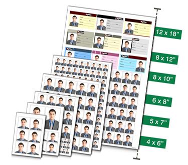 Predefined standard Passport sizes