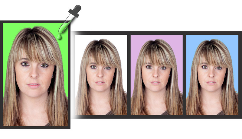 Single Color Background Replacement in Single Click