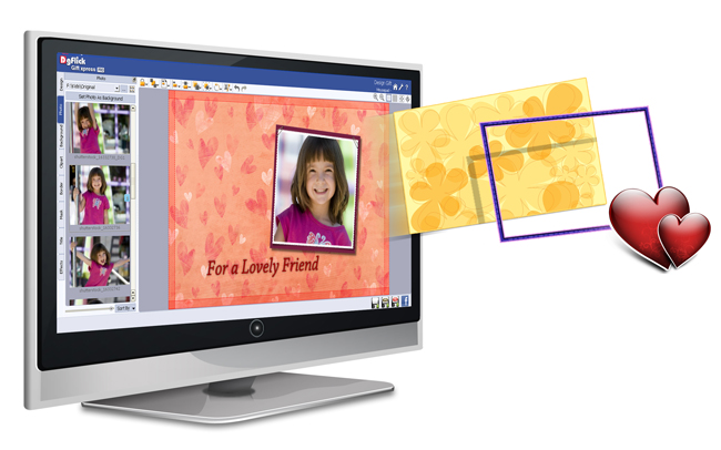 Import your own Backgrounds, Borders, Clip-arts or Masks